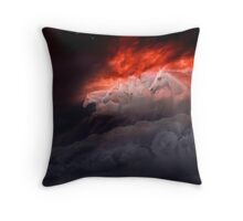 Fiery Gallop Throw Pillow