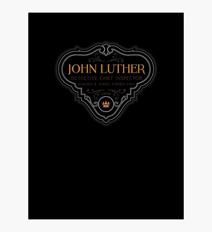 Luther - Badge - Colored Clean Photographic Print