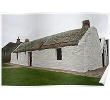 Shetland cottage Poster