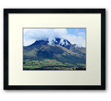 Clouds Over Mount Imbabura Framed Print