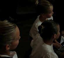 Three Young Highland Dancers by Patty Gross
