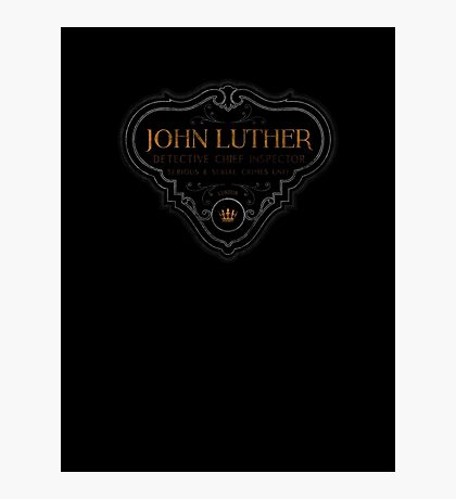 Luther - Badge - Colored Dirty Photographic Print