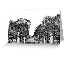 Snow At Canada Gate Greeting Card