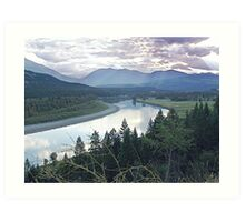 Columbia River At Trail (2) Art Print