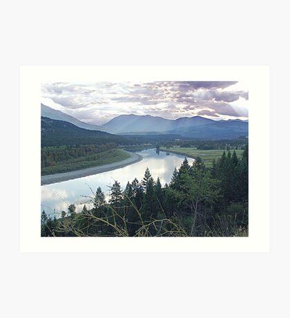 Columbia River At Trail (2) Art Print