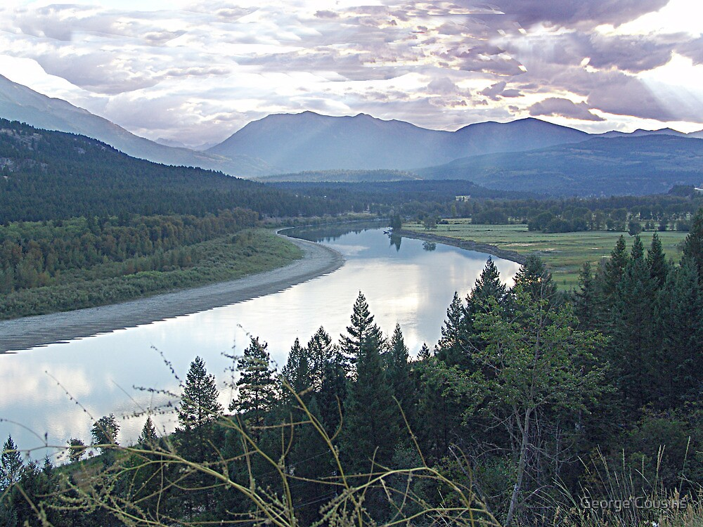 Columbia River At Trail (2) by George Cousins