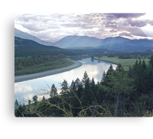 Columbia River At Trail (2) Canvas Print