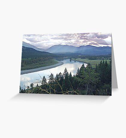 Columbia River At Trail (2) Greeting Card
