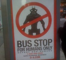 Human Bus Stop by Mark Roon-Reitmeier