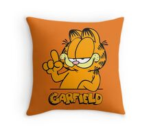 Garfield Presents Funny Throw Pillow