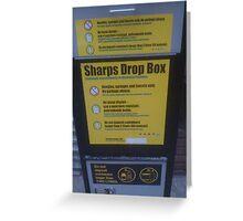 Street Sharps Greeting Card