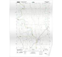 USGS Topo Map Oregon Harrisburg 20110831 TM Poster
