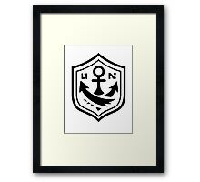 Inkling Anchor Tee Design Framed Print