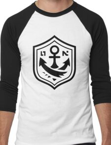 Inkling Anchor Tee Design Men's Baseball ¾ T-Shirt