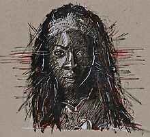 The Walking Dead Michonne by tevamana