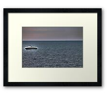 Boating on Lake Erie Framed Print