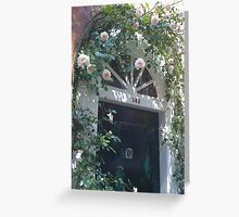 Floral Entry Greeting Card