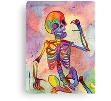 Rainbow Skeleton Canvas Print