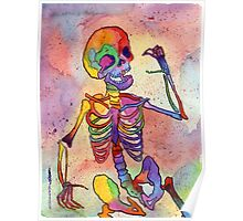 Rainbow Skeleton Poster