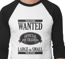 Wanted: Official Pin Traders Men's Baseball ¾ T-Shirt