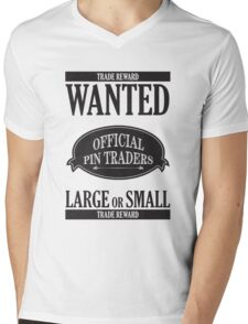 Wanted: Official Pin Traders Mens V-Neck T-Shirt