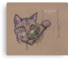 Doctor Frankenkitty in the Lab Canvas Print