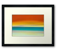 Crack of Dawn over the Beach Framed Print
