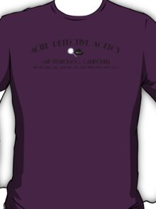 ACME Detective Agency Black Font  T-Shirt