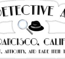 ACME Detective Agency Black Font  Sticker