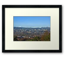 Winter over Glasgow Framed Print