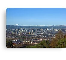 Winter over Glasgow Canvas Print