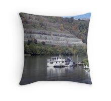 Down on the Allegheny River Throw Pillow