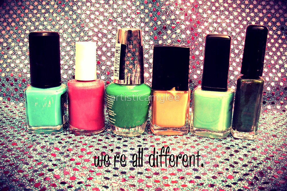 We're all different by Amy-lee Foley
