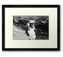 indian farmer Framed Print