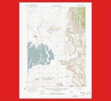 USGS Topo Map Oregon Crane 282380 1960 62500 Kids Tee