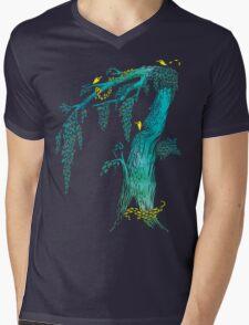 Tree Birds Mens V-Neck T-Shirt