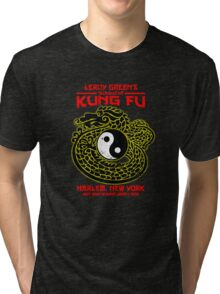 Leroy Green's School of Kung Fu Tri-blend T-Shirt