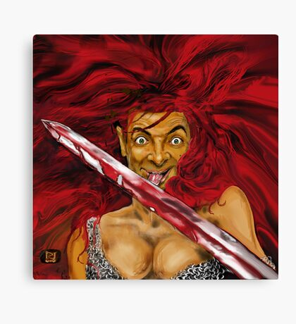 MR BEAN IS RED SONIA ! Canvas Print
