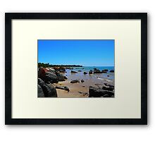 Hawley Beach, Tasmania Framed Print