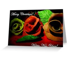 Christmas clay blooms Greeting Card