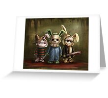 Horror Bunnies Greeting Card