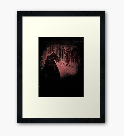 Bleached Kylo Ren Framed Print