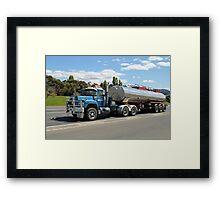 Mack Tanker - Hobart Tasmania Framed Print