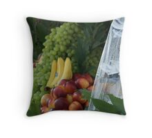 Fruit stand, Roma, Italy Throw Pillow