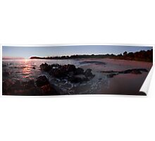 Sunrise at Pebbly Beach Forster, NSW, Australia Poster