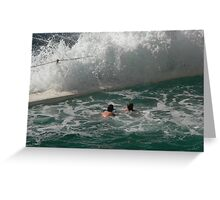The surf's up! Greeting Card
