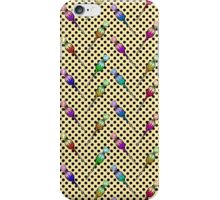 Colorful Candy Lollipops on Polka Dots & Yellow iPhone Case/Skin