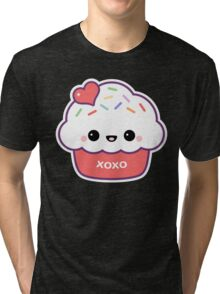 Cute Love Cupcake Tri-blend T-Shirt