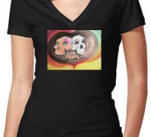 true love forever Women's Fitted V-Neck T-Shirt