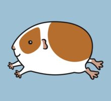Smooth Leaping Guinea-pig ... Brown and White Kids Tee